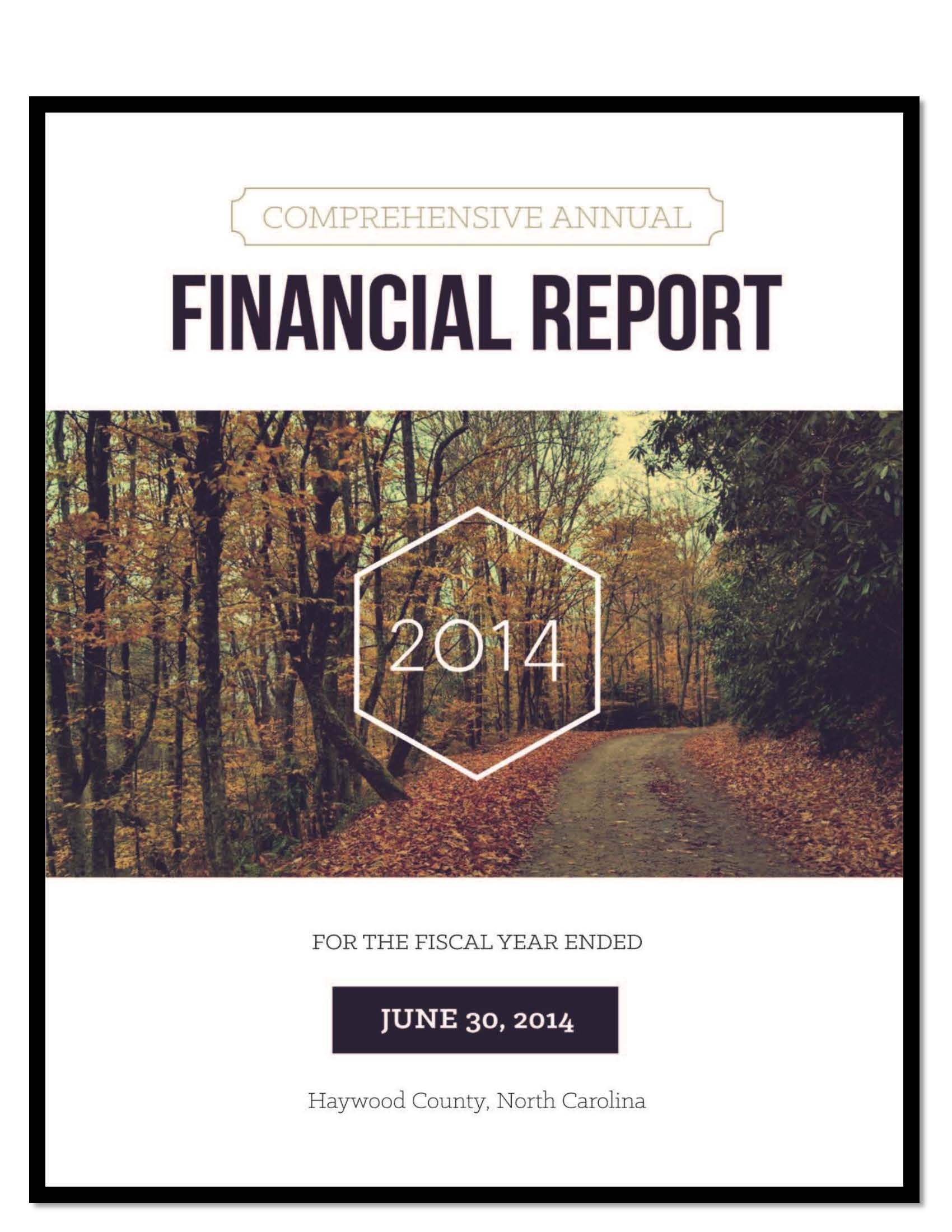 Comprehensive Annual Financial Report 2014 Cover Opens in new window