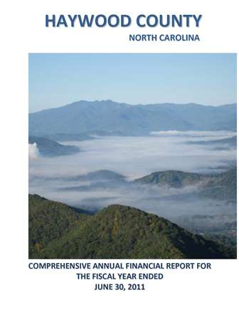 Comprehensive Annual Financial Report 2011 Cover Opens in new window