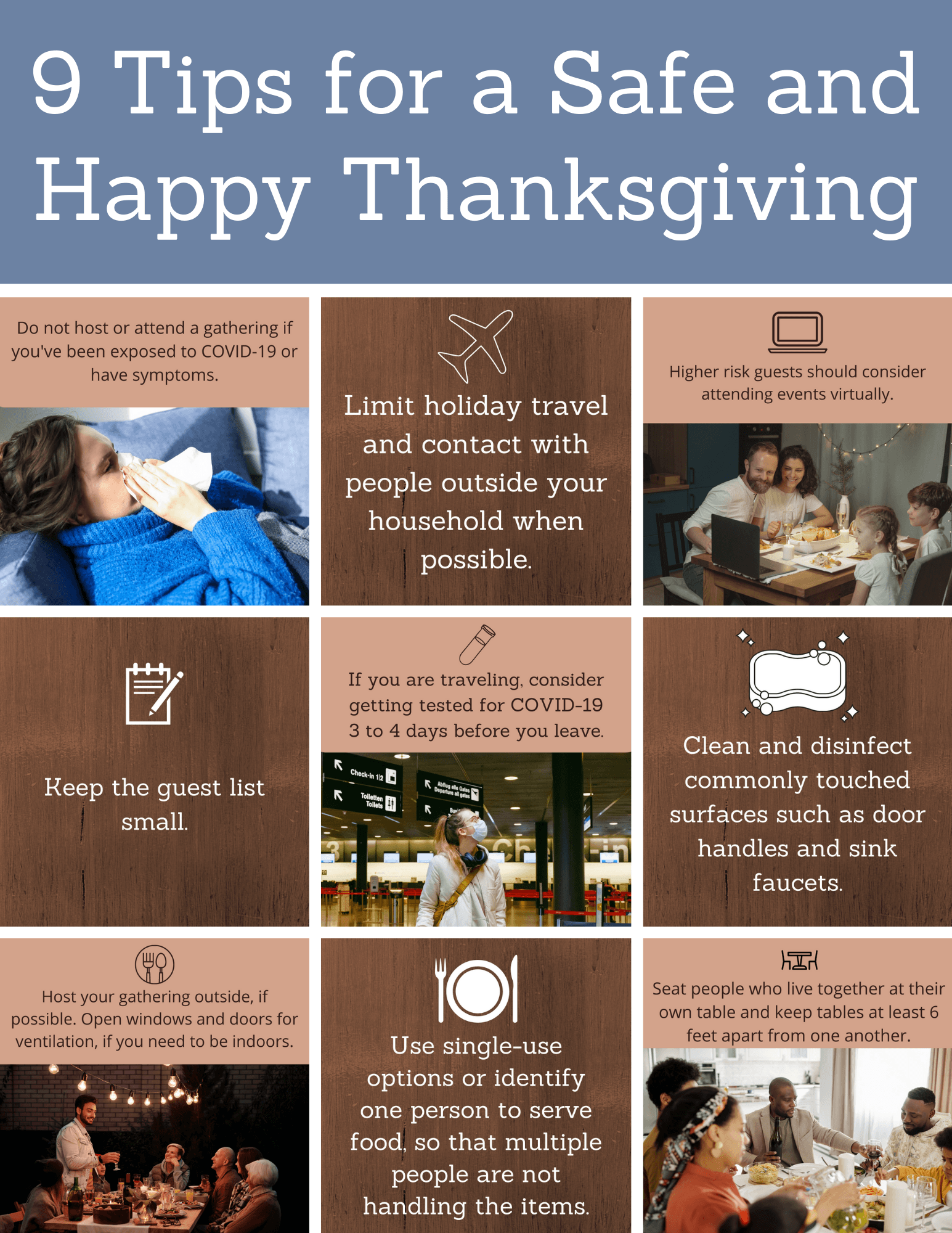 9 Tips for a Safe and Happy Thanksgiving